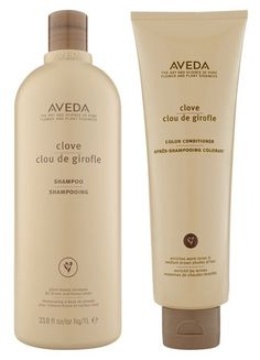 AVEDA Clove Shampoo and Color Conditioner... designed to enhance warm tones in medium brown shades of hair