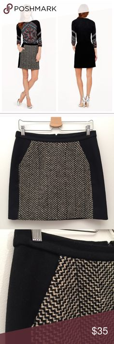 "J. CREW Wool Mini Skirt LIKE NEW 6 Excellent Condition! 100% wool. Fully lined. Waist:15.5"" Length:16"" Back zip. J. Crew Skirts Mini"