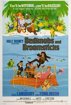 Bedknobs and Broomsticks is a 1971 musical film by Walt Disney starring Angela Lansbury and David Tomlinson. Disney Pixar, Walt Disney Movies, Disney Movie Posters, Arte Disney, Original Movie Posters, Film Posters, Disney Live, Disney Animation, Disney Magic
