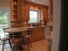 Kitchen remodel projects traditional kitchen tampa by kitchen - Angled Peninsula On Pinterest Counter Height Table