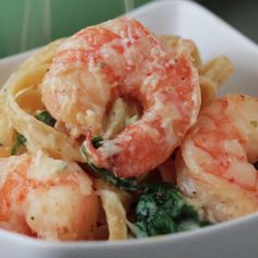 Shrimp Recipes Creamy One-Pot Spinach Shrimp Pasta Shrimp Dishes, Shrimp Recipes, Pasta Dishes, Fish Recipes, Indian Recipes, Shrimp Meals, Pasta Food, Tasty Videos, Food Videos