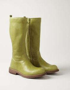 Moss green boots...would be fab for Z, if only they didn't cost more than I'd spend on boots for myself.