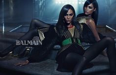 Joan and Erika Smalls / Balmain FW15 Ad Campaign