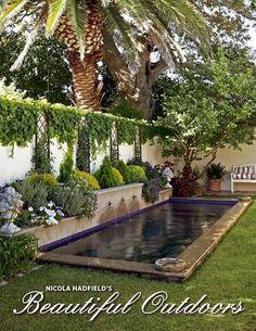 Nicola Hadfield's Beautiful Outdoors (eBook) Hinterhofoase Landschaftsbau Small Swimming Pools, Small Pools, Swimming Pools Backyard, Swimming Pool Designs, Backyard Landscaping, Small Yards With Pools, Small Pool Ideas, Landscaping Ideas, Small Backyard Design