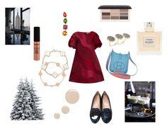 """Christmas"" by maria-chamourlidou ❤ liked on Polyvore featuring VIVETTA, Chiara Ferragni, Hermès, Ileana Makri, Balmain, Topshop, H&M and NYX"
