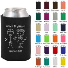 Wedding Koozies Clipart 1048 Cop and Nurse  by MyWeddingStore, $49.00 I wonder if they have cop and chemist?