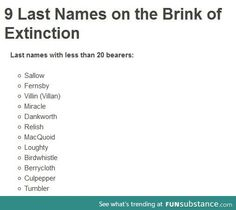 Dying names