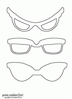 Sunglasses Coloring Sheet Pages