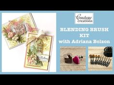 Couture Creations - Blending Brush Kit with Adriana Bolzon Butterfly Cage, Happy Birthday Beautiful, Brush Kit, Card Stock, Paper Crafts, Make It Yourself, Couture, Tissue Paper Crafts, Paper Board