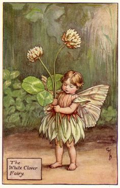 THE WHITE CLOVER FAIRY by old school paul, via Flickr