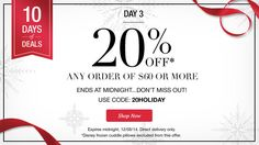 DAY 3 of 10 Days of Deals - 20% off any order of $60 or more.  https://lyndafischer.avonrepresentative.com/