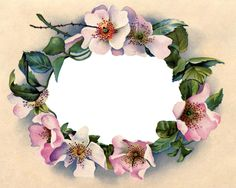 Victorian Clip Art - Stunning Wild Rose Frame - The Graphics Fairy #Printable #Vintage #Floral