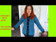 How to crochet a chunky star stitch baby cardigan / sweater / jumper - YouTube Cardigan Pattern, Baby Cardigan, Sweater Cardigan, Crochet Jacket, Crochet Cardigan, Crochet Sweaters, Easy Crochet, Knit Crochet, Crochet Tops