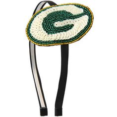 Green Bay Packers Women's Sequin Beaded Horseshoe Headband