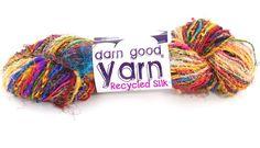 Spice Market Recycled Silk Handspun Yarn from Darn Good Yarn.