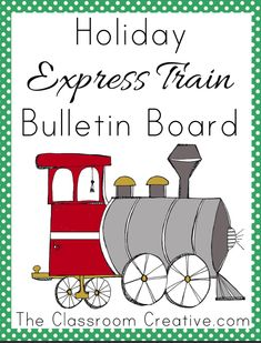 Holiday express train bulletin board with writing prompts!