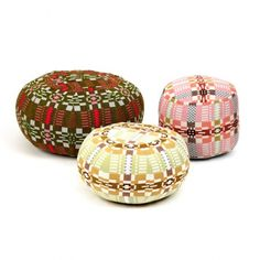 Donna Wilson textiles and home goods.  so good. Nos Da Pouffes by Donna Wilson (at the Future Perfect)