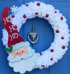 Christmas Yarn Wreaths, Christmas Crafts, Christmas Decorations, Christmas Ornaments, White Christmas, Winter Wreaths, Etsy Christmas, Spring Wreaths, Summer Wreath