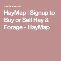 HayMap | Signup to Buy or Sell Hay & Forage - HayMap