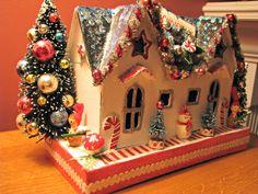 Musings from Kim K.: My sweet little Christmas house...