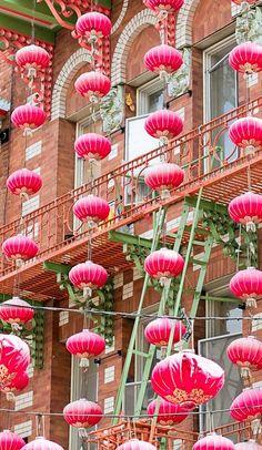 Quartier de Chinatown à San Francisco, Etats-Unis