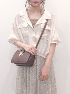 Korea Fashion, Girl Fashion, Womens Fashion, Winter Outfits, Summer Outfits, Blouse Vintage, My Outfit, Shoulder Bag, Clothes For Women