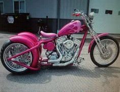"""""""Because my pink Monster truck will need a happy pink bike friend, and a trike will probably be easier to ride. Pink Motorcycle, Trike Motorcycle, Used Motorcycles, Custom Motorcycles, Indian Motorcycles, Harley Davidson Trike, Custom Trikes, Harley Bikes, Bike Art"""