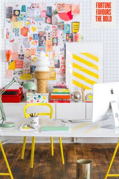 Happy workspace (via Oh Happy Day + Ikea)