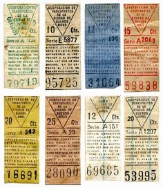 Vintage tickets from Argentina, via Silver Lining.