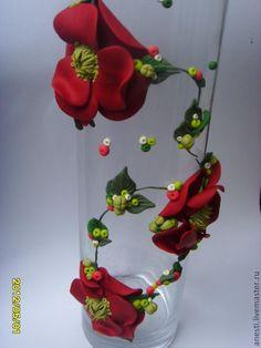 "Ваза ""Маки"" - Ярмарка Мастеров - ручная работа, handmade"