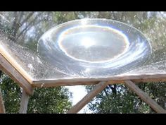 SOLAR DEATH RAY  WATER  aqua lens with 1/3 Kilowatt Heat Energy.  Could use it to cook or to power a steam generator!