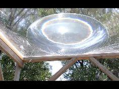 SOLAR DEATH RAY WATER aqua lens with 1/3 Kilowatt Heat Energy grid free energy - YouTube