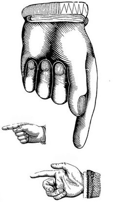 Because you can never have too many manicules. From vintage type-specimen catalogues. In the public domain--free to use. Vintage Type, Vintage Prints, Vintage Clip Art, Grafik Design, Vintage Images, Altered Art, Free Printables, Free Printable Clip Art, Stencil