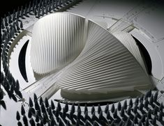 Image 4 of 12 from gallery of Santiago Calatrava: The Metamorphosis of Space. Property of Studio Calatrava © Santiago Calatrava Education Architecture, Architecture Office, Futuristic Architecture, Architecture Design, Office Buildings, Parametric Architecture, Santiago Calatrava, Arch Model, Zaha Hadid Architects