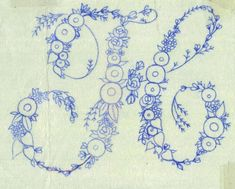 Embroidery Patterns, Hand Embroidery, How To Embroider Letters, Motifs, Fiber Art, Needlepoint, Fancy, Lettering, Quilts