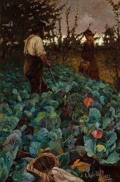 A Cabbage Garden by Arthur Melville