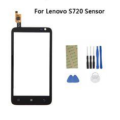 Para lenovo s720 pantalla táctil digitalizador 4.5 ''bolsillo de vidrio ventana de reemplazo del sensor del panel táctil s720 panel de pantalla táctil con las herramientas