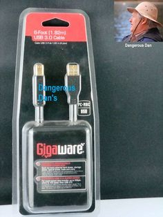 Gigaware 6 Pin To 6 Pin 6FT  Firewaire Cable P//N 1500009