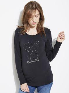 T-shirt imprimé devant #grossesse, future #Maman - Collection Colline automne hiver 2014 - www.vertbaudet.fr
