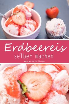 Klick hier, wenn du diesen Sommer dein Joghurteis selber machen möchtest. Eis selber machen ohne Eismaschine ist möglich! Unser Erdbeereis ist dank Joghurt supercremig und zuckerfrei. Eis ohne Eismaschine, kein Problem mehr mit diesem schnellem Rezept. #Eis #Joghurteis #Rezept