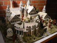 Rivendell model. Miniatures