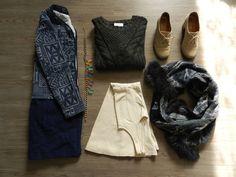 Coat - Zara ; necklace - Blanco ; jumper - Monki ; dress - Stradivarius ; shoes - André ; scarf - don't remember sorry!  http://landm.overblog.com
