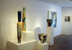 Gretchen Wachs Ceramic Installation  reminds me of Paul Klee who's work i have always liked