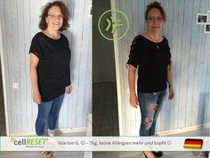 Herzlich Glückwunsch liebe Marion! Du hast ein spitzenmäßiges Ergebnis erzielt -7 kg und keine Allergie mehr Spitze !!! Willst du auch wissen wie das geht: http://www.c12665.cellreset.com/de/index.html oder PN