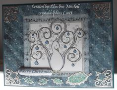 Christmas Bird digi stamp by artist Diana Garrison at Squigglefly. Card created by Charlene Mitchell.