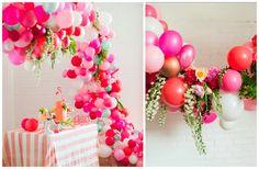 la decoración de mis mesas: Decoración de fiestas con globos