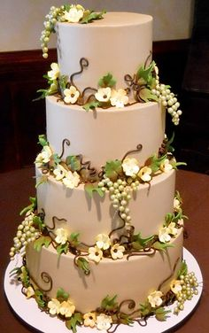 wedding cakes with vines and flowers gluten free wedding cakes 187 wedding cakes 26133