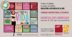 Promo Noviembre #UBP Comenzá la CaRReRa dE tU ViDA