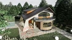 Casa cu etaj 69 | Proiecte de case personalizate | Arhitect Gabriel Georgescu & Echipa Modern House Facades, Modern House Design, Modern Architecture, House Gate Design, Luxury House Plans, Facade House, Design Case, Home Fashion, Villa