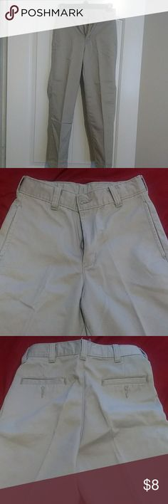 NWOT Cat Jack Boys Uniform Pants Adjustable Waist Reinforced Knee Blue Tan